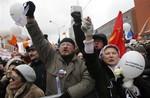 Митинг на проспекте академика Сахарова в Москве (24.12.11)
