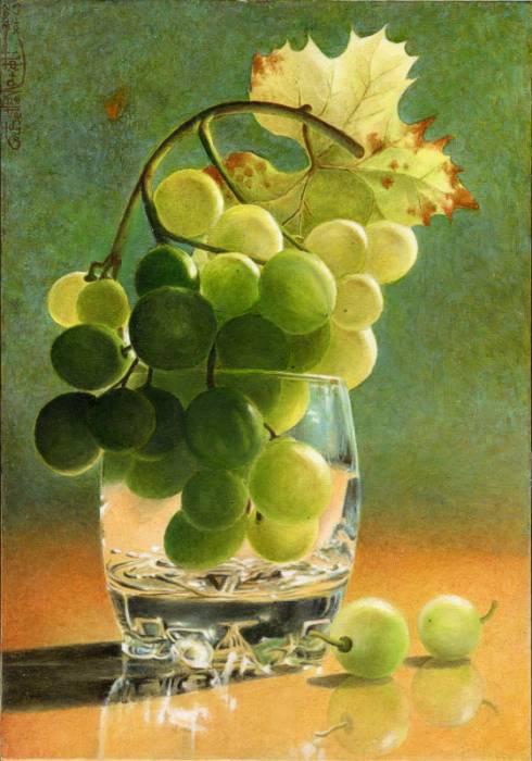 """Комментарии (стр. 1) - Схема вышивки  """"Натюрморт с виноградом """" - Схемы автора  """"avzv """" - Вышивка крестом."""