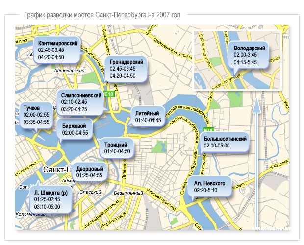 страницу какие мосты разводят в санкт-петербурге график ней