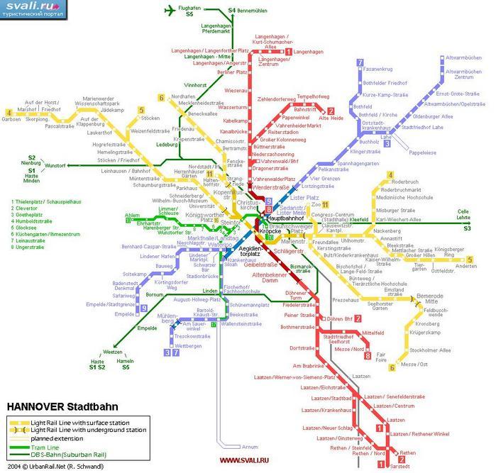 Схема метро Ганновера