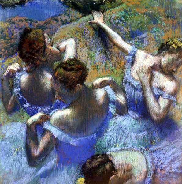 """Э.Дега. """"Голубые танцовщицы"""" (1880)"""