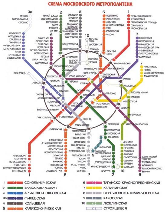 Как проехать г.москва схема метро