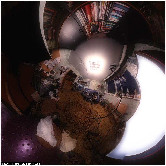 Первый тест самодельной панорамной головки