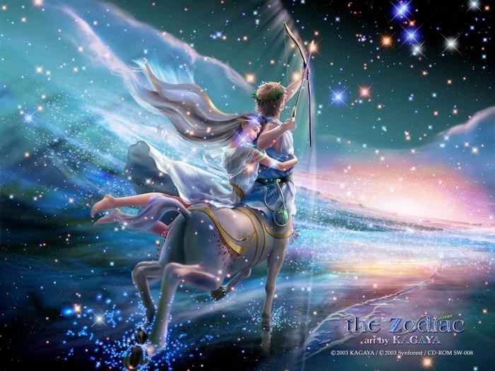 арт фэнтези девушка на лошади
