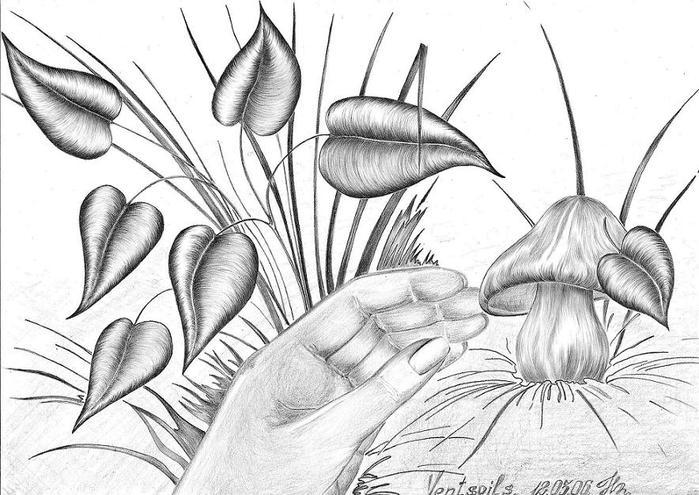 рисунки карандашом готика: