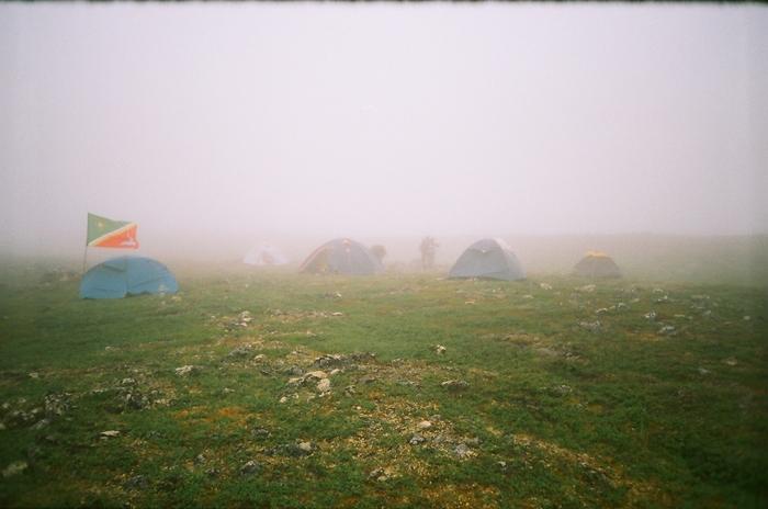 Над нашем лагерем опустился сильный туман