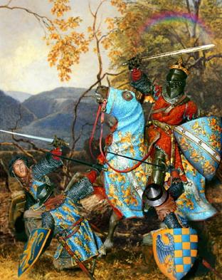 Король Артур с магическим мечом Экскалибур