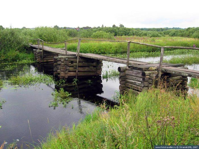 просто рыбалка деревенский мостик