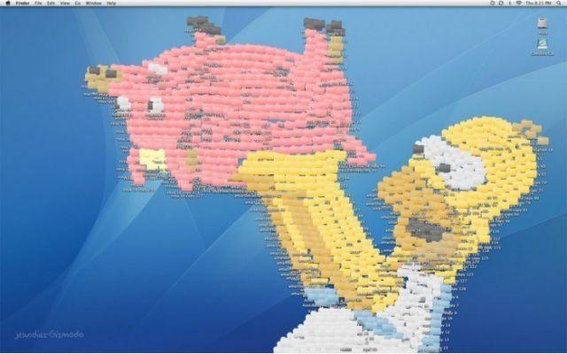 Симпсоны - обои на рабочий стол с помощю иконок lilumi.org.ua