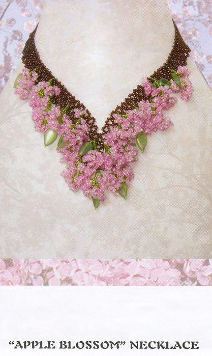 цветы для ожерелья из бисера МК - Исскуство схемотехники.
