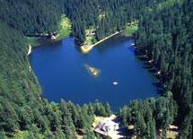 Озеро Синевир вид с воздуха