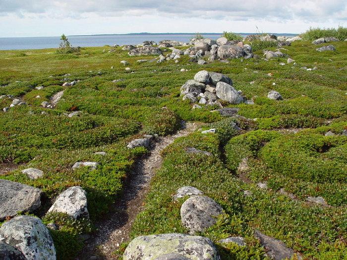 Загадочные северные лабиринты на Соловецких островах.