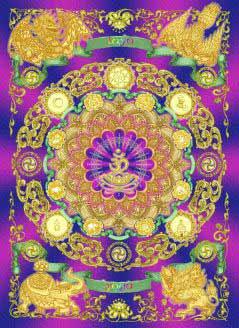 """Схема вышивки  """"Мандала """".  Предпросмотр.  Схемы автора  """"torik """".  Для хранения мулине во время вышивания и для того..."""