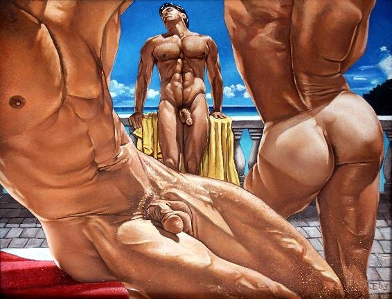 Фото голые мужчины которых рисуют