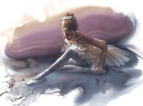 """Схема вышивки  """"Юная балерина """" ."""
