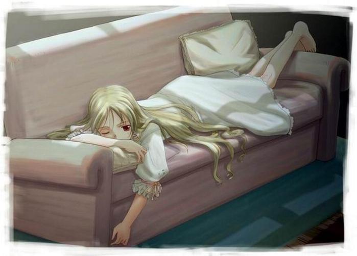 Парень с девушкой спят из альбома Всякое.
