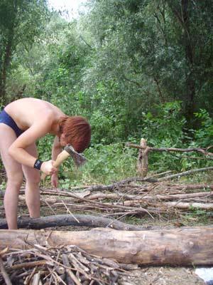 Я рублю дрова.