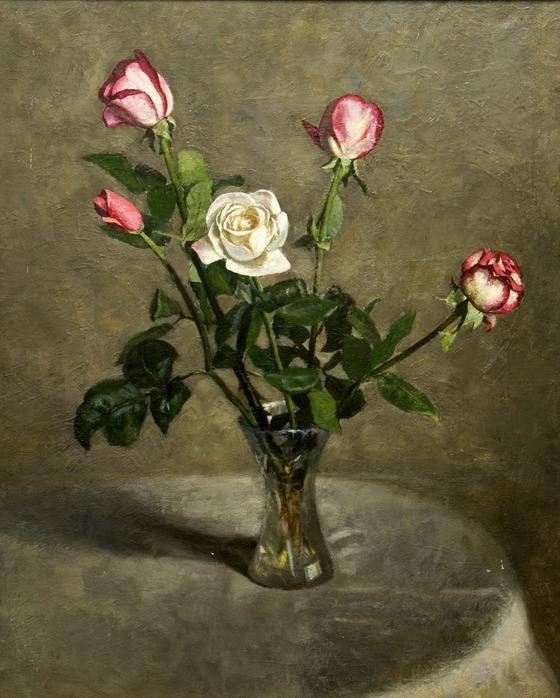 """Схема вышивки  """"Букет роз """": таблица цветов."""