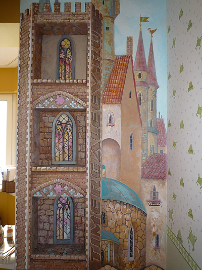 Роспись на стене детской комнаты