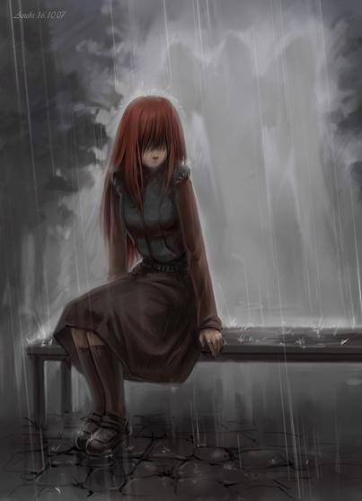 нарисованные грустные девушки: