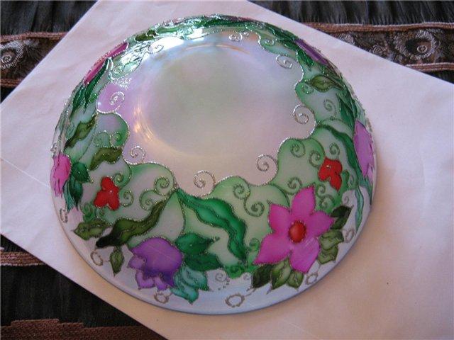 Материалы необходимые для росписи по стеклу обычно есть в продаже и.