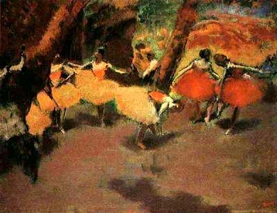 Схемa для вышивки Before the Perfomance, Degas (фрагмент) (200х150, 11 цветов). header=Схемa для вышивки Before the...