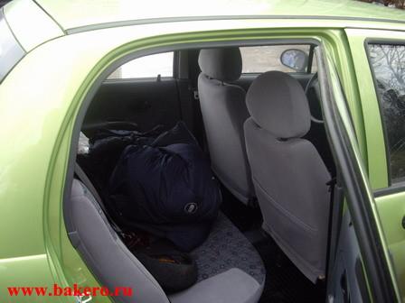 Daewoo Matiz: задние сиденья