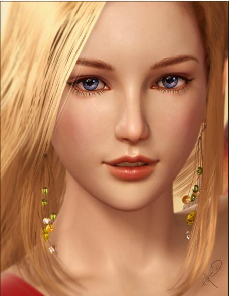 нарисованные девушки блондинки: