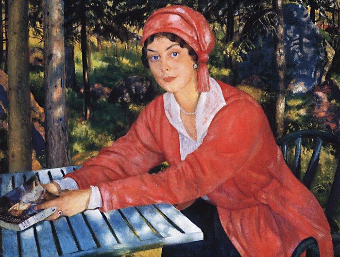 Борис Кустодиев Портрет графини Грабовской 1917 СЖ (700x530, 90Kb)