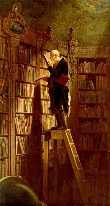 К. Шпицвег. Книжный червь. 1850.