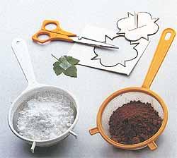 Декор из сахарной пудры