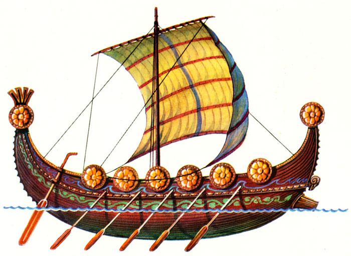 Напоминая формой древние суда финикийцев, эти корабли отличались более