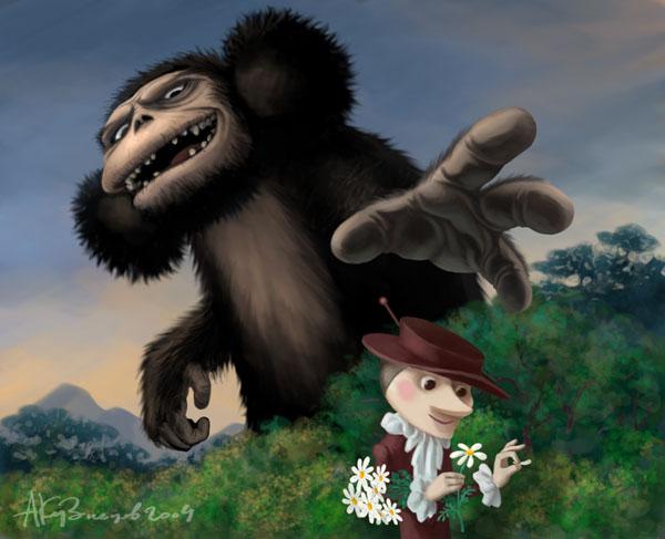«Поникли лютики…» — картинка замечательного художника Андрея Кузнецова. Кликните, чтобы увидеть другие его работы из серии «Чебураки»