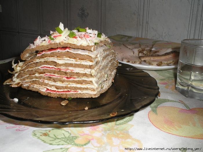 Тортик печёночный экспериментальный
