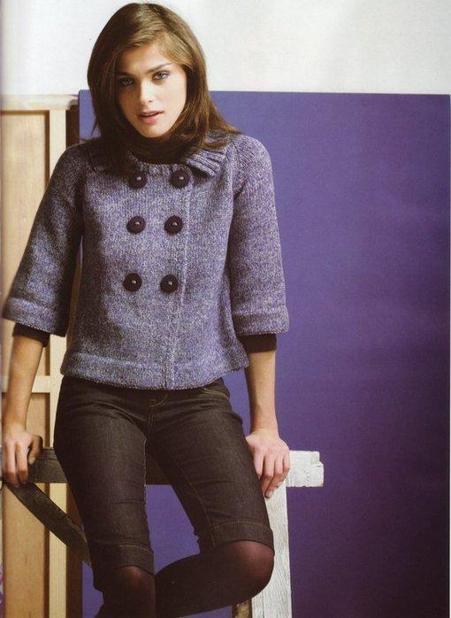 вязаные жакеты со схемами, вязание модели женских кофт и вязание.