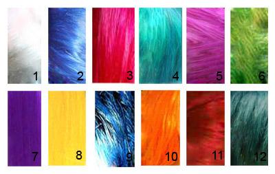 Яркие цвета краски для волос
