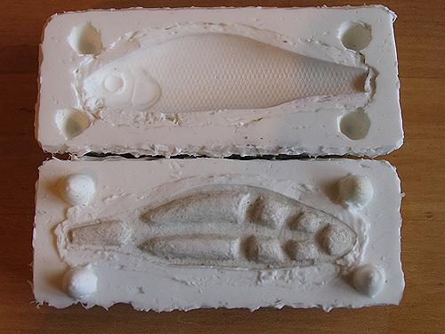 Форма для отливки воблера из эпоксидки