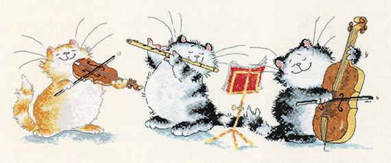 Схемы для вышивки крестом с кошками от Маргарет Шерри.
