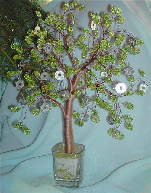 смотреть м к бисероплетение денежное дерево - Это бисер!