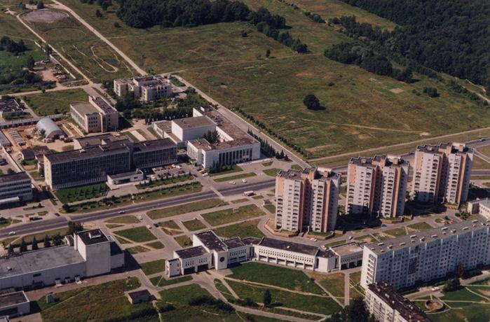 Вид на Обнинск с метеовышки