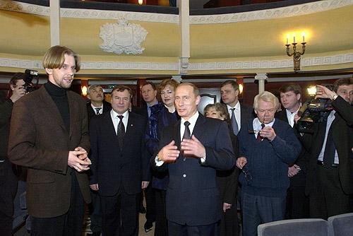Встреча президента с актерами театра