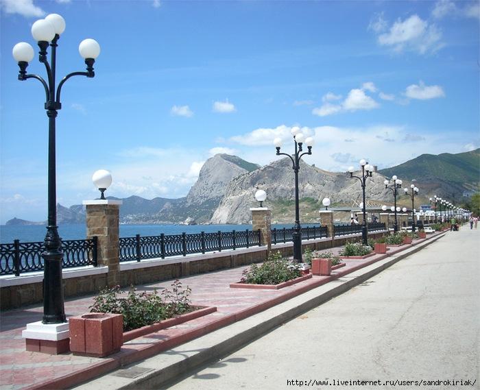 Веб камера на набережной города судак
