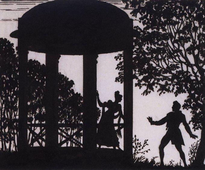 Русский силуэт - Галерея - Иллюстрации к произведениям А.С.Пушкина.