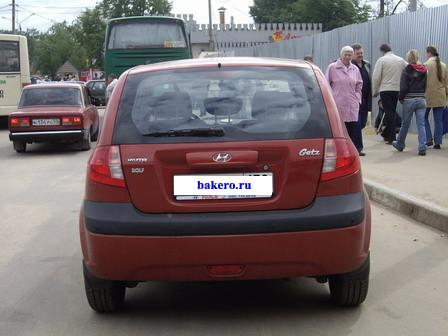 Hyundai Getz Хендай Гетц Вид сзади Багажник