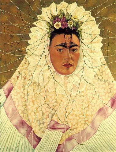 Фрида Кало Автопортрет Диего в мыслях 1943 Коллекция Якова и Наташи Гельман Мехико сж (379x495, 46Kb)