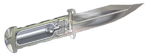 Нож с баллоном (иллюстрация WASP Injection Systems)