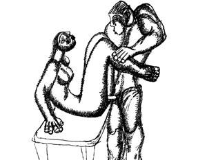 Гладко выбритый парень трахает небритую бабу. Автор — Зураб Церетели. Надеюсь, никто больше не претендует?