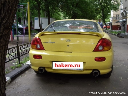 Hyundai Coupe Хендай Купе Вид сзади