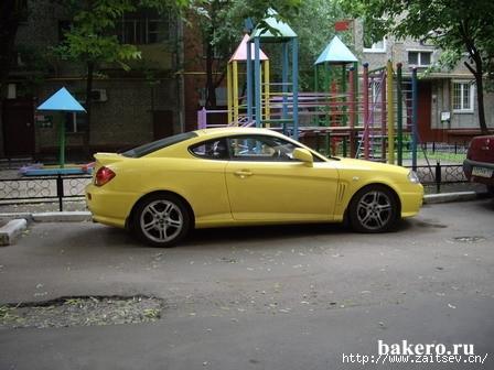 Hyundai Coupe Хендай Купе Вид с боку