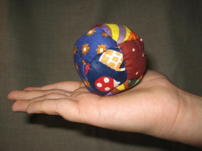 Мяч из лоскутков своими руками